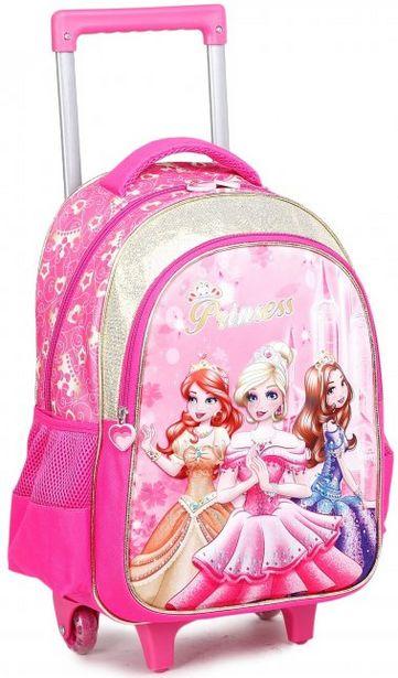 Oferta de Mochila Infantil C/ Rodas Princess Rosa por R$139,99