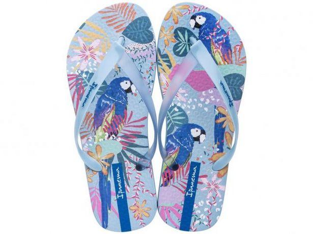 Oferta de Chinelo Feminino Ipanema Trendy Azul por R$24,99