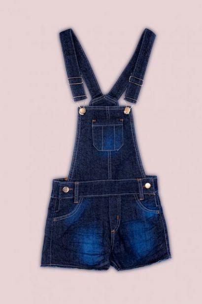 Oferta de Jardineira Juvenil Barra Desfiada Jeans por R$79,99