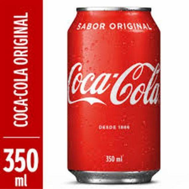 Oferta de Refrigerante Coca Cola lata 350mL por R$2,48