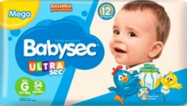 Oferta de Fralda Babysec Galinha Pintadinha mega G 38un por R$26,98