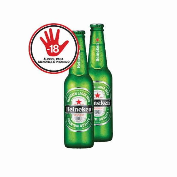 Oferta de Cerveja Heineken long neck 330mL por R$4,78