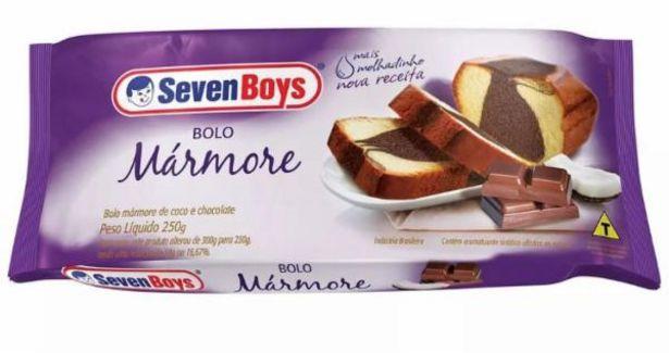Oferta de Bolo Seven Boys mármore 250g por R$6,89