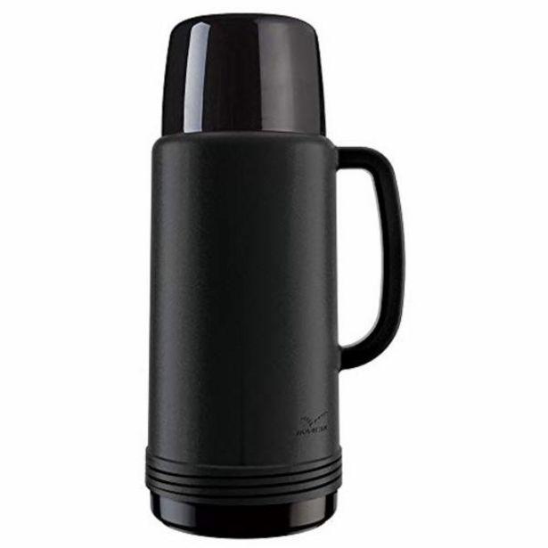 Oferta de Garrafa térmica Invicta preta ideal 1L por R$26,99