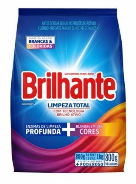 Oferta de Lava roupa em pó Brilhante limpeza total sache 800g por R$9,99
