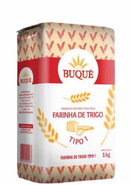 Oferta de Farinha de trigo Buque 1Kg por R$2,99