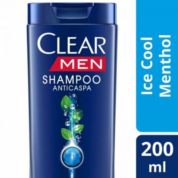 Oferta de Shampoo Clear Men anti caspa menthol 200mL por R$16,99