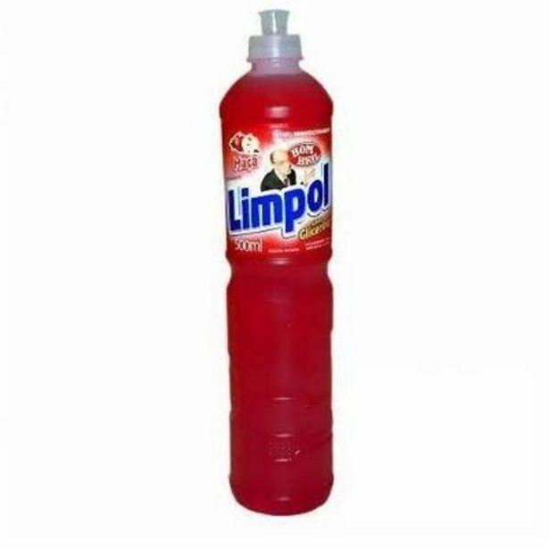 Oferta de Detergente líquido Limpol maçã 500mL por R$2,09