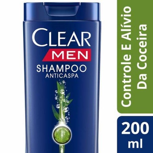 Oferta de Shampoo Clear Men controle coceira 200mL por R$16,99
