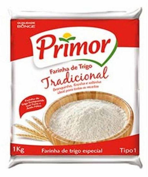Oferta de Farinha de trigo Primor 1Kg por R$3,59