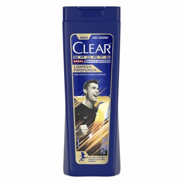 Oferta de Shampoo Clear Men anti caspa limpeza profunda 200mL por R$16,99