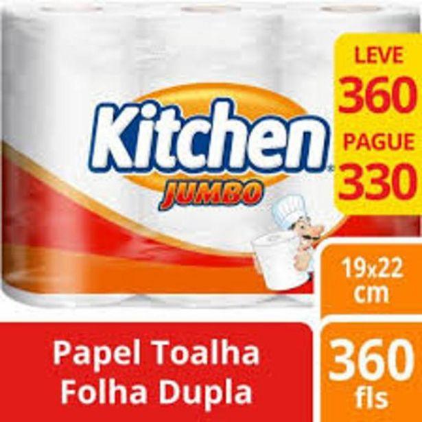 Oferta de Toalha de papel Kitchen 360f leve 360 pague 330 por R$9,98