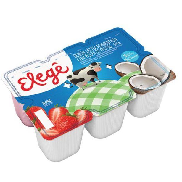 Oferta de Bebida láctea Elegê morango/coco 540g por R$3,99