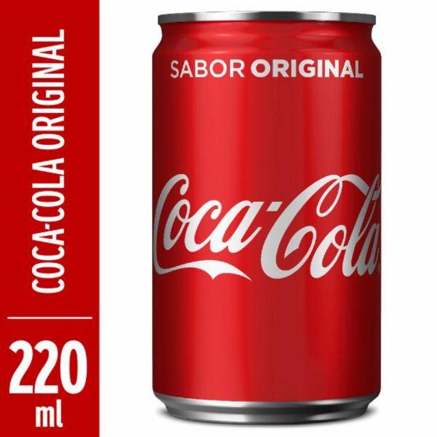 Oferta de Refrigerante Coca Cola lata 220mL por R$1,79