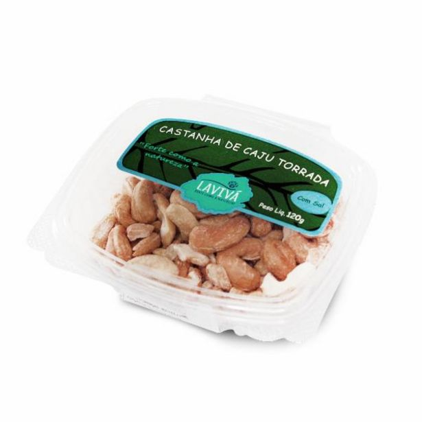 Oferta de Castanha de caju torrada c/ sal Laviva 120g por R$18,99