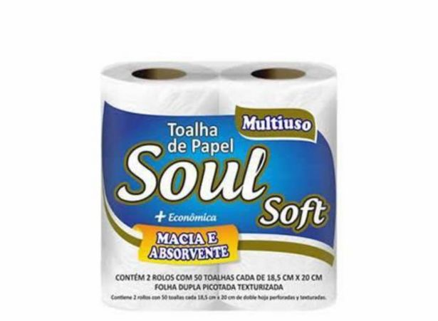 Oferta de Toalha de papel Soul 2un por R$3,59