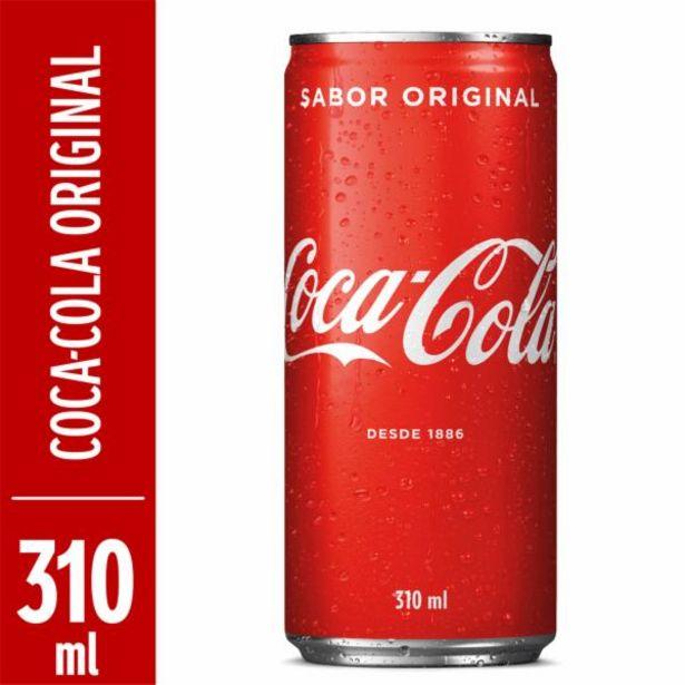 Oferta de Refrigerante Coca Cola lata 310mL por R$2,59