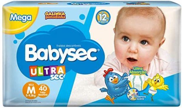 Oferta de Fralda Babysec Galinha Pintadinha mega M 40un por R$24,98