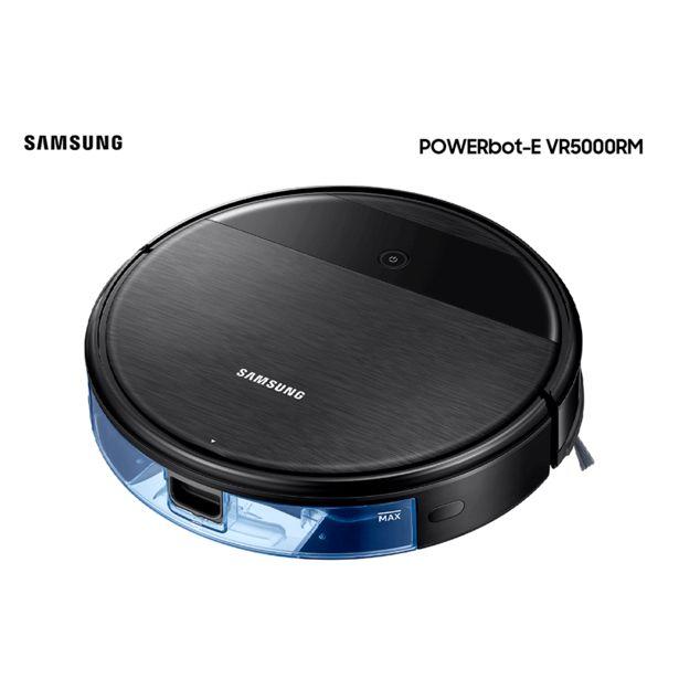 Oferta de Robô Aspirador Inteligente Samsung Powerbot 2 em 1 Aspira e passa pano, 55W - VR05R5050WK/AZ   Preto por R$2459
