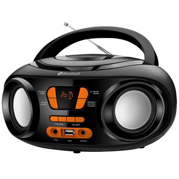 Oferta de Rádio Portátil Mondial BX-19, Entrada USB, Bluetooth, Display Digital | Bivolt por R$169,9