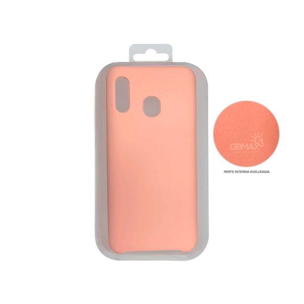 Oferta de Capa Protetora Gbmax para Celulares Samsung A10S de Silicone | Rosa por R$29,9