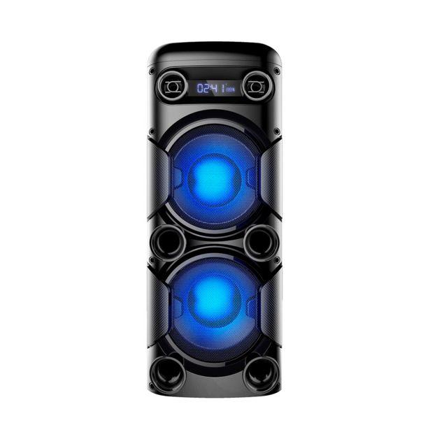 Oferta de Mini Torre Multilaser 900W - SP380 com Bluetooth, Rádio Fm, Entradas Usb e Cartão de Memória por R$899