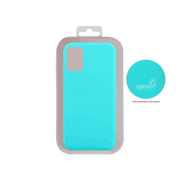 Oferta de Capa Protetora Gbmax para Celulares Samsung A31 de Silicone | Azul Tiffany por R$29,9