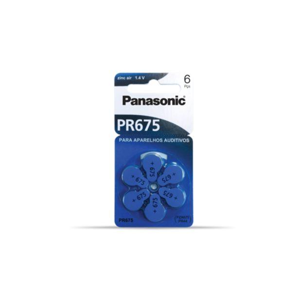 Oferta de Bateria Panasonic Pr-675br Para Aparelho Auditivo Com 06 por R$24,9