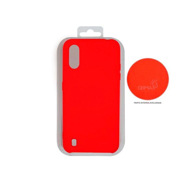 Oferta de Capa Protetora Gbmax para Celulares Samsung A01 de Silicone | Vermelho por R$29,9