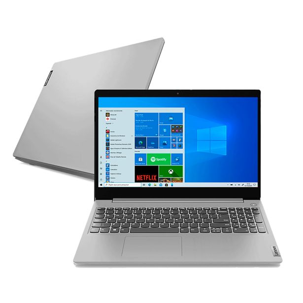 "Oferta de Notebook Lenovo Ultrafino IdeaPad 3i i5-10210U 8GB 256 GB SSD 15.6"" 82BS0005BR Prata   Windows 10 por R$3999"