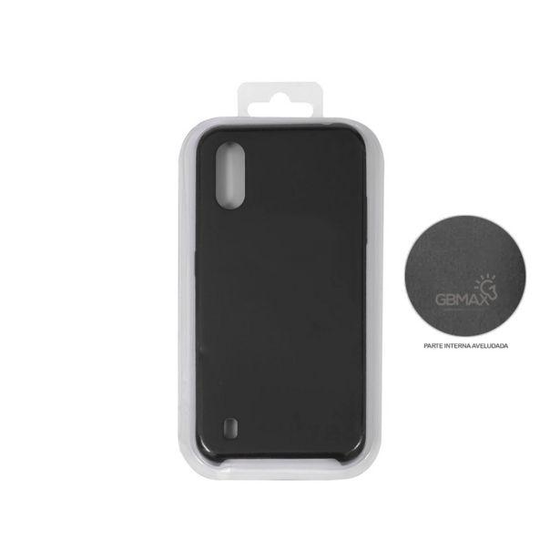 Oferta de Capa Protetora Gbmax para Celulares Samsung A01 de Silicone | Preto por R$29,9