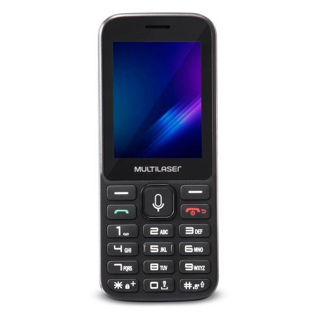 "Oferta de Celular Multilaser Zapp 2,4"" KaiOS, Dual Chip, 512MB, Rede 3G   Preto por R$219,9"