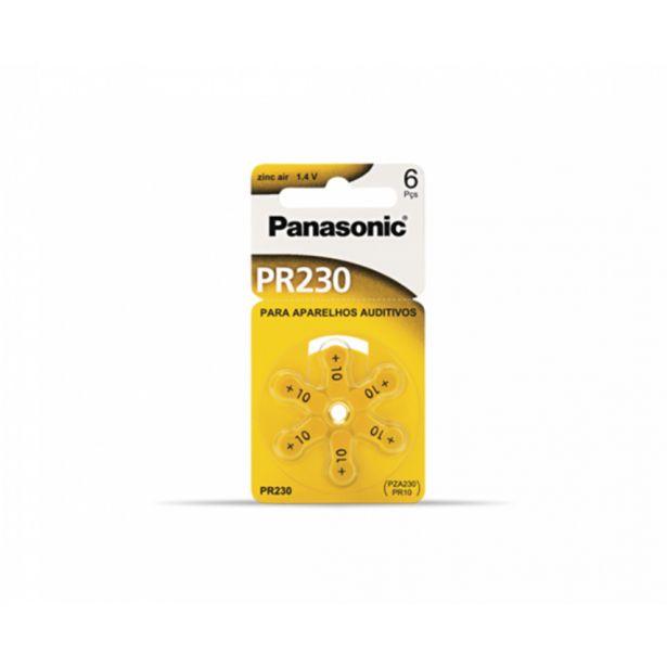 Oferta de Bateria Panasonic PR 230H Para Aparelho Auditivo   com 06 unidades por R$26,9