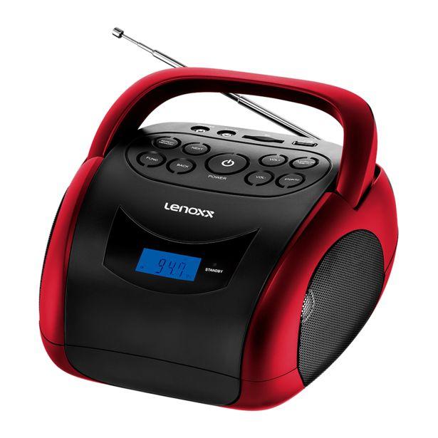 Oferta de Rádio Portátil Lenoxx BD-150 Boombox 4W de potência rms, Bluetooth, Display Digital, Rádio FM e Função MP3 por R$209,9