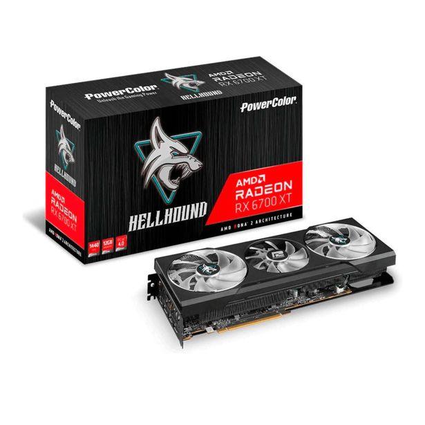 Oferta de Placa de Vídeo PowerColor Hellhound RX 6700 XT, 12GB, GDDR6, 192bit, 12GBD6-3DHL por R$8900