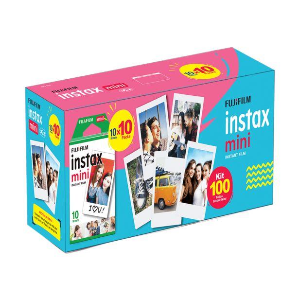 Oferta de Kit filme Instax Mini | 100 fotos por R$319,9