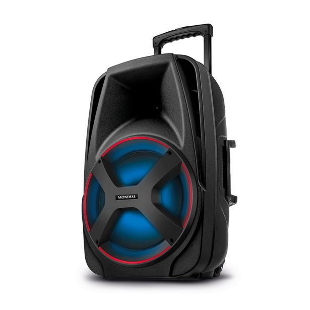 Oferta de Caixa Amplificada Mondial CM-550 com Bluetooth, Potência 550W, USB Rádio FM e Função TWS | Preto por R$549,9