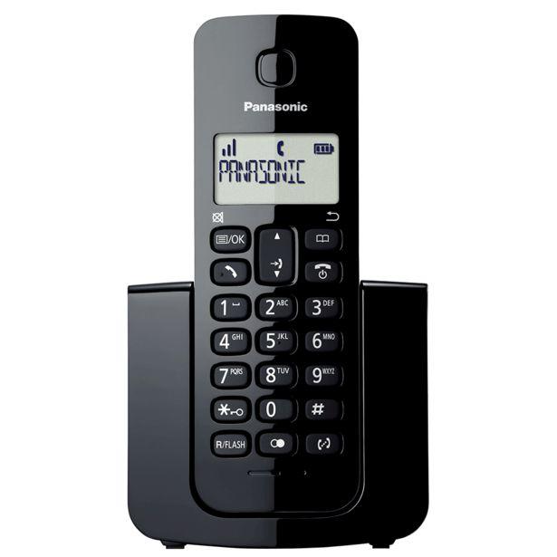 Oferta de Telefone Sem Fio Panasonic KX-TGB110LBB, Com Identificador de Chamadas por R$129,9