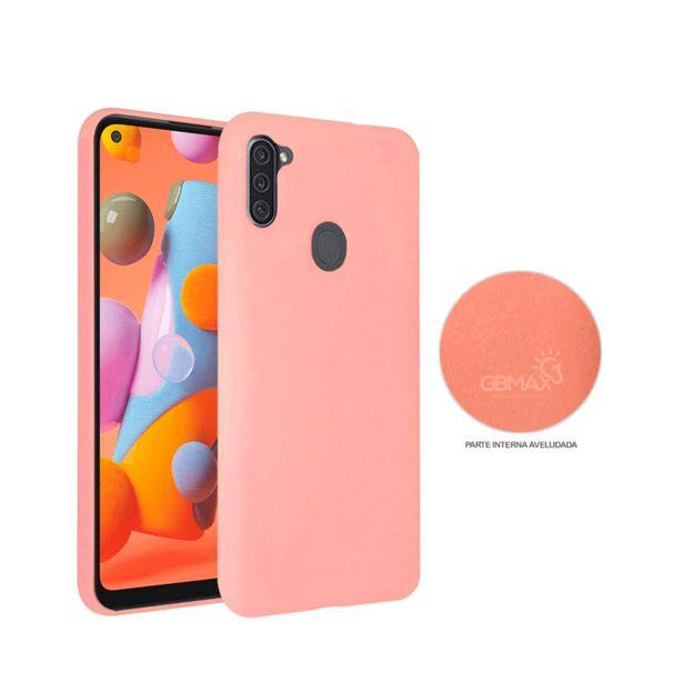 Oferta de Capa Protetora Gbmax para Celulares Samsung A11 de Silicone | Rosa por R$29,9
