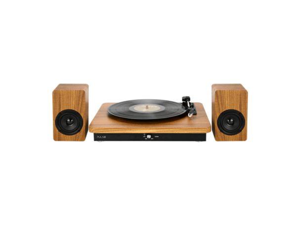 Oferta de Vitrola Micro System Retrô Pulse Sinatra SP366, Potência 100W, Com Bluetooth   Madeira /Bege por R$549