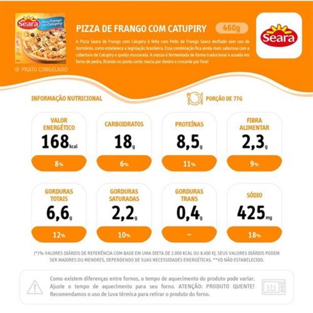 Oferta de Pizza de Frango com Catupiry Seara 460G por R$13,99