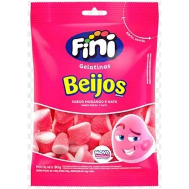 Oferta de Bala Gelatina Fini Beijos Morango 90G por R$7,99