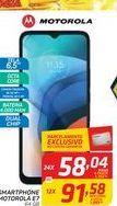 Oferta de SMARTPHONE MOTOROLA E7 64 GB por R$58,04