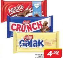 Oferta de CHOCOLATE NESTLÉ 90 g  por R$4,59