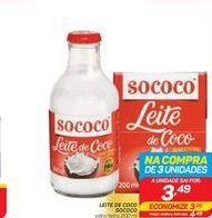 Oferta de LEITE DE COCO SOCOCO 200 ml por R$3,49