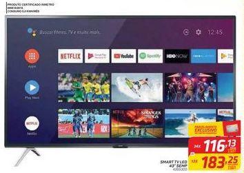 """Oferta de SMART TV LED 43"""" SEMP por R$116,13"""