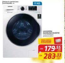 Oferta de LAVADORA SAMSUNG INVERTE 11 KG WW6800 BRANCA 220 V por R$179,55