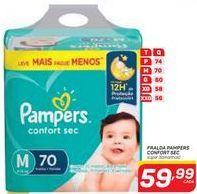Oferta de Fralda Pampers Confort Sec por R$59,99