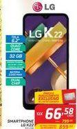 Oferta de SMARTPHONE LG K22 por R$66,58
