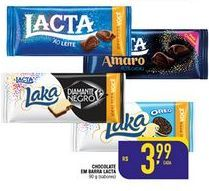 Oferta de Chocolates Lacta90 g por R$3,99
